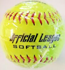 """12"""" Worth Yellow Official League Softball New Factory Sealed Free Shipping"""
