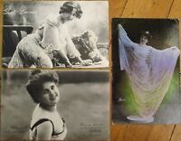 French Actresses/Artists SET OF THREE 1904 Postcards - Theatre/Theater
