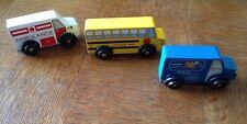Melissa & Doug Wooden Push Toys Ambulance School Bus Mail Truck