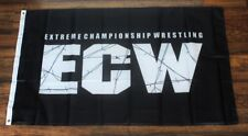 ECW Banner Flag Extreme Championship Wrestling WCW WWE WWF USA Shipper Black New