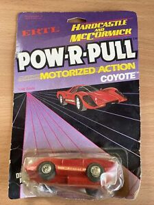 Vintage Ertl Hardcastle And McCormick Pow-r-pull Coyote Die Cast CAr Rare Carded