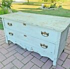 Vintage Wood Wooden 2 Drawer Low Chest Dresser