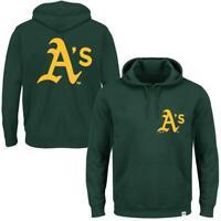Oakland Athletics Majestic MLB Duke Hoodie Jumper - Green