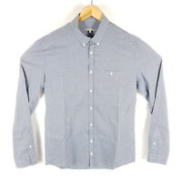 Drykorn Hemd Alex Herren L Blau Grau Gestreift Regular Langarm Button Down