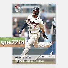 2018 Topps Now Dansby Swanson #230 Walk-Off Single Caps 6-Run 9th Inning Rally