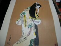 Geisha   Acrylic painting