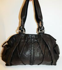 Lucky Brand Black Leather Large Satchel Shoulder Nickel Bag