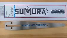 """12"""" Simon O'Rourke signature chainsaw carving bar by Tsumura with Multimount"""