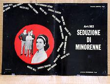 ART. 182 SEDUZIONE DI MINORENNE fotobusta poster affiche Hermann Leitngr AE5