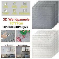 10-50 Stücke 3D Tapete Wandpaneele Selbstklebend Ziegel Wasserfest Wandaufkleber