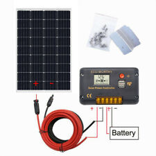 120W Watt Mono Solar Panel Starter Kit 20A LCD Controller Battery Charger For RV