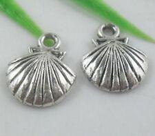 30pcs Tibetan Silver Shell Charms Pendants 14x12mm  (Lead-free)
