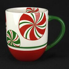 HARD TO FIND Pier 1 Candy Cane Mug  Handpainted MINT