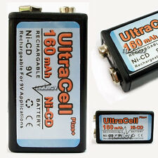 2 x 9V Volt 160mAh Ni-Cd PP3 6F22 17R8H Rechargeable Battery Ultracell Block
