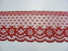 Flat Lace  Burgundy 60mm wide x 10 mts (2231)