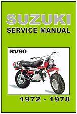 SUZUKI Workshop Manual RV90 Rover 1972 1973 1974 1975 1976 1977 & 1978 Service