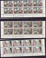 Liberia 309-12 C63-64 MNH Blocks of 8 Signed SZYK