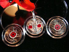CANADA RED POPPY QUARTER COLLECTION 2004 2008 2010 NEW UNCIRCULATED