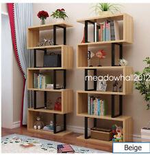 S-Shape 5 Tiers Storage Display Shelf Unique Home Furniture3 Colours Waved
