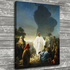 Jesus Christ and Civilians Home Decor HD Canvas Print Picture Wall Art Painting