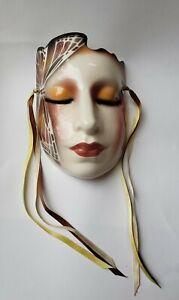 Butterfly Lady Vandor Pelzman Designs Airbrushed Sculptural Mask Wall Decor