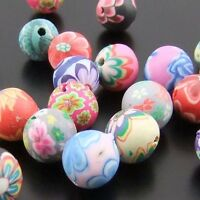01197 Mixed Color Polymer Clay Round Fimo Beads Jewelry Finding 100pcs