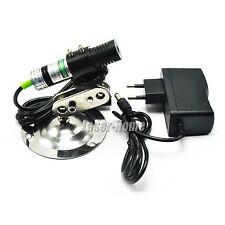 532nm 30mw Green Focus Line Laser Diode Module w/ AC Adapter & Heatsink 18x75mm