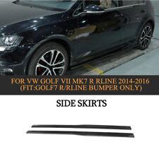 2PC Carbon Fiber Car Side Skirts Fit For VW Golf VII MK7 R Rline 14-16 4-Door