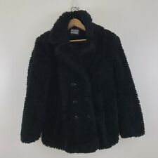 Girls Tailored By Rothschild Teddy Peacoat Jacket Lined Black Size L