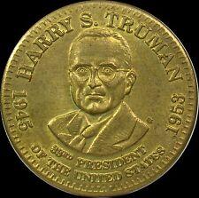 """Harry S. Truman 33rd President Token Medal  Facts  1-1/4"""" in Diameter."""