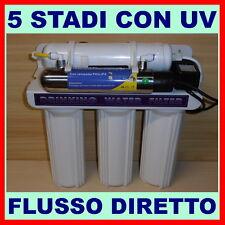 DEPURATORE ACQUA A MICROFILTRAZIONE 5 STADI CON LAMPADA UV MODELLO 500 E MF PLUS