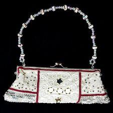 Indische Tasche Handtasche Abendtasche Clutch Clutsch Geldbörse Perlenstrickerei