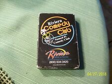 2#S  Deck Of Riviera Comedy Club  Riviera Hotel Las Vegas Playing Cards