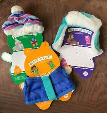 Teddy Bear Clothes Lot Vest Snow Trapper Faux Fur Trim Hat Beanie Small Doll New