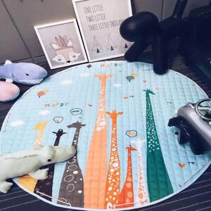 Round Child Kid Play Mat Baby Playing Crawling Rug Carpet Blanket Kids Toy Mats