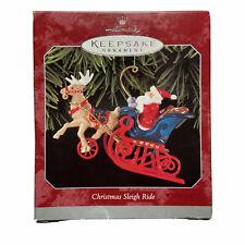 Christmas Sleigh Ride Hallmark Keepsake Ornament Nib, 1998