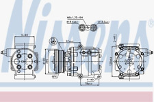 Kompressor Klimaanlage - Nissens 89358