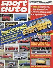 sport auto 9/92 1992 Jaguar XJ220 Honda CRX Maserati Shamal SERL Chevron B8 MX-5