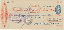 GB OLD CHECKS 1948 The National Bank of Scotland Ltd., ANSTRUTHER; VFU check