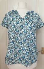 BODEN Approx Size 14 Floral Pom Pom Patterned Blouse-See Description For Sizing