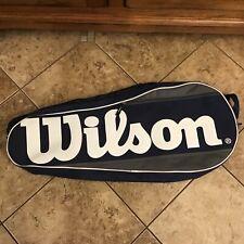 Wilson tennis equipment bag black holds 3 rackets