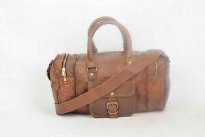 Bag Leather Super Travel Duffle Gym Weekend Overnight Luggage Holdall  Large