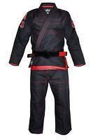 "New Fuji Sports Sekai ""World"" Mens Brazilian Jiu-Jitsu BJJ Gi - Black w Red"