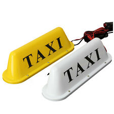 12 V Magnetic Base Taxi Cab Roof Sign Light LED Lamp With Cigarette Lighter V9O2