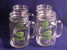 4 BUD LIGHT LIME-A-RITA HANDLED DRINKING JARS/MUGS-UNUSED-16 OZ