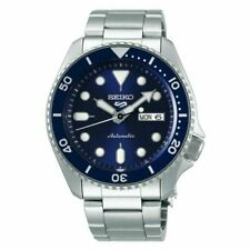 Seiko 5 Sports Automatic Ceramic Crystal  Silver Case with Metal Silver Strap Men's Wristwatch