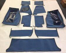 Carpet Set; 62-71 Jaguar E-Type, Series I & II;Original English Wool Lt. Blue