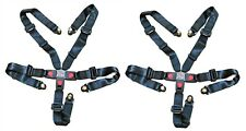Set of 2, Universal 5 Point Safety Seat Belts Shoulder Harness Go Kart Off Road