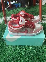 StrangeLove x Nike SB Dunk Low Valentine's Day CT2552-800 US Size 4.5, In-Hand