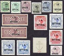 Queen Victoria INLAND REVENUE OFFICIALS  Set of 14 (forgeries)